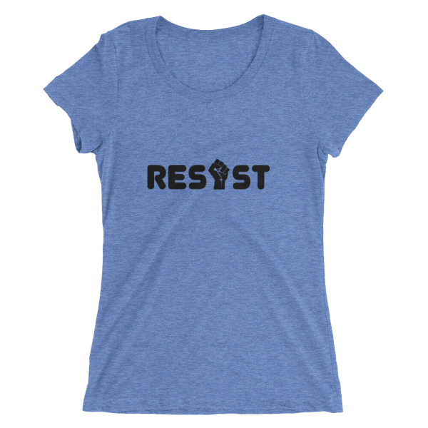Resist Scooped Neck T in Blue