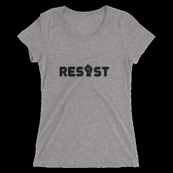 Resist Scooped Neck T in Grey