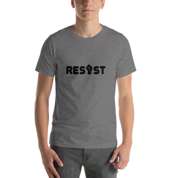 Resist Unisex T in Deep Heather